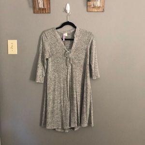 Tie up sweater dress